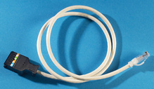 Clarity 6 110/Mod 8 Patch Cord, Category 6, 3'