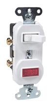 Discontinued | Non-Grounding Single-Pole Combination Switch & Pilot Light, White | Sub 692WG