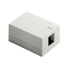 Surface Mount Box 1-Port, Ivory