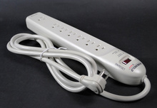 Plug-In Outlet Center Unit / 120V/15A/7 O/L /lighted switch/6' cord/fax/modem protector/Value Grade Surge