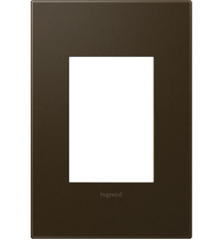 adorne® Bronze One-Gang-Plus Screwless Wall Plate