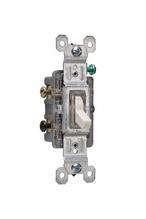 15A,120V TradeMaster® 3-Way/Illuminated Toggle Switch, Ivory