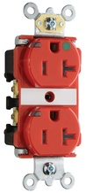 20A Heavy-Duty Power Indicating Hospital-Grade Receptacle, Red