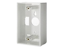 Single Gang Surface Mount Box, White