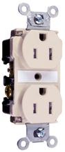 Tamper-Resistant Spec Grade Receptacles, Back & Side Wire, 15A, 125V, Light Almond
