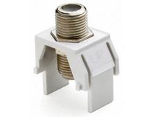 Non-Recessed Nickel F-Connector, Brown