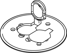Rachet-Pro™ Series Round Brass Duplex Cover Plate