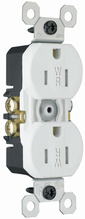 15A/125V Weather-Resistant Duplex Receptacle, White