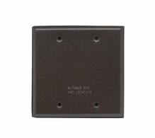 Two Gang Blank Cover, Bronze