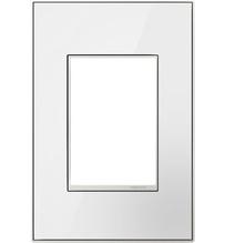 adorne® Mirror White-on-White One-Gang-Plus Screwless Wall Plate