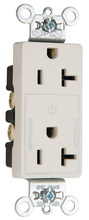 Heavy-Duty Decorator Spec Grade 20A Plug Load Controllable Receptacle, Brown
