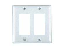 2-Gang Decorator Wall Plate, White