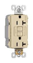 NAFTA-Compliant PlugTail® Spec-Grade 20A Self-Test Duplex GFCI, Ivory