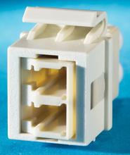 1-LC (2 fibers) fiber Keystone module, Wiremold Ivory
