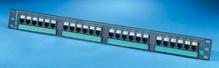 Clarity 5E 24-port panel - Cat5e - six-port modules - 19 in x 1.75 in