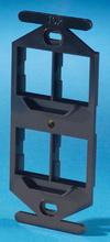 TracJack 106-Type Frame, Four-Port, Black