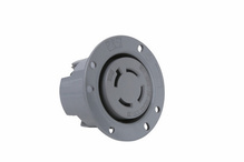 30 Amp NEMA L1730 Flanged Outlet, Gray