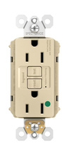 PlugTail® Hospital-Grade Tamper-Resistant 15A Self-Test GFCI Receptacle, Ivory