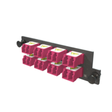 Infinium M4 HDFP Adapter Panel, 8 Keyed Front Keyed Rear LC Duplex Adapters, 16 Fiber, Magenta