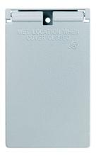 Cast Weatherproof Cover Decorator or GFCI Vertical, Bronze