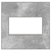 adorne® Spiraled Stainless Two-Gang Screwless Wall Plate