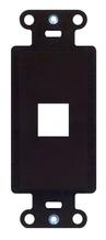 1-Port Decorator Outlet Strap, Brown