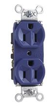 Hard Use Spec Grade Receptacle, Back & Side Wire, 15A, 125V, Blue