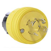 28W76 Watertight NEMA 4X/6P Locking Plug,Yellow