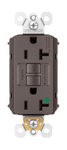 PlugTail® Hospital-Grade 20A Self-Test GFCI Receptacle, Brown