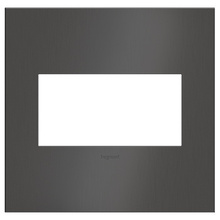 adorne® Brushed Black Nickel Two-Gang Wall Plate