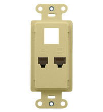 Phone/Data Wall Outlet Strap, Ivory