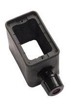 1-Grip, Standard Depth Rubber Portable Outlet Box, Black