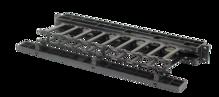 Horizontal Cable Manager, Single Sided, 1 rack unit, Black