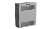 Compact Edge Cabinet, 4 RU, Perforated Door - Magnesium