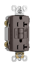 Spec-Grade Audible Alarm Tamper-Resistant 20A Self-Test Duplex GFCI, Brown