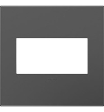 adorne® Magnesium Two-Gang Screwless Wall Plate