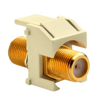 Recessed Gold F-Connector, Light Almond