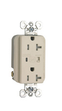 Tamper-Resistant Extra Heavy-Duty Surge Protective Duplex Receptacle, Light Almond