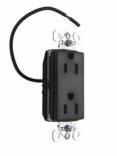 PlugTail® Tamper-Resistant Split Circuit Decorator Spec Grade Receptacle, 20A, 125V, Brown