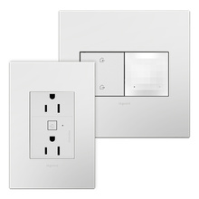 Coming Soon:  adorne Smart 15A Outlet Starter Kit with Gateway and Home Away Wireless Smart Switch with Netatmo White