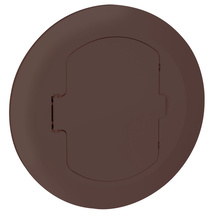 Tamper-Resistant Thermoplastic Floor Box Cover, Brown