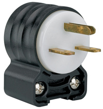 Extra-Hard Use (EHU) Angled Devices - Plug, Black & White