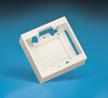 """SURFACE MOUNT OUTLET BOX (DOUBLE GANG), 2"""" DEEP, FOG WHITE"""