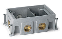 Omnibox® Series Double Gang Cast Iron Floor Box