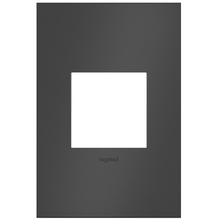 adorne® Satin Black One-Gang Screwless Wall Plate