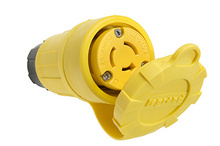 27W08 Watertight NEMA 4X/6P Locking Connector,Yellow