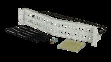 HDJ series  White 48 port unloaded angled panel