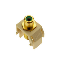 Green RCA to F-Connector, Light Almond