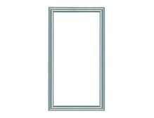 "28"""" Legrand Custom Door, Brushed Aluminum Frame, Clear Insert"