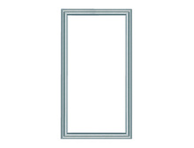 "28"""" Legrand Custom Door, Brushed Aluminum Frame, Clear Insert"